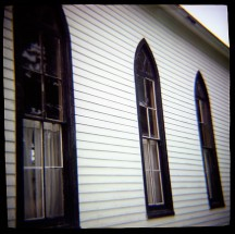 Church In The Prairie Grove Cemetery (Toy Camera) #2