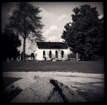 Church In The Prairie Grove Cemetery (Toy Camera) #3