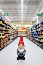 Garden Gnome In The Walmart Pasta Aisle