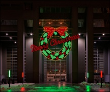 Fort Wayne's Merry Christmas Wreath