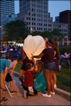 Yellow Sky Lantern Launch #1