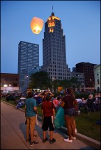 Yellow Sky Lantern Launch #5