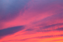Abstract photographs of the sky at sunset on the Fourth of July 2017.