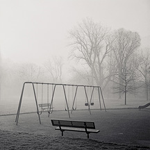 Photographs of a foggy morning in Fort Wayne, Indiana