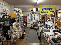 The closing of Sunny Schick Camera Shop in Fort Wayne, Indiana.
